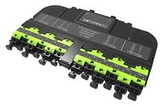 Модуль EHD ULL 12LC Duplex/2xMPO12(f), OM5, LazrSPEED® wideband, выравнивающие штырьки: нет, пылезащитные заглушки: да, цвет: lime