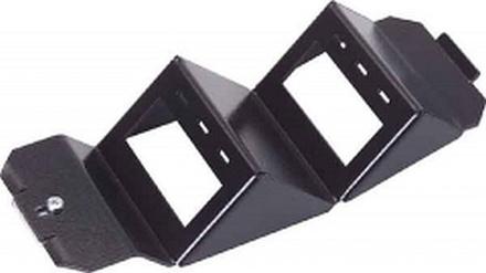Розеточный блок под SL-гнезда для напольных коробок OBO Bettermann на 6 гнезд (короткая) хромированная