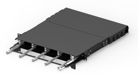 Модульная выдвижная коммутационная панель SYSTIMAX® CHD, до 12 модулей CHD ULL (до 72 LC Duplex или MPO), Высота: 1RU, цвет: чёрный