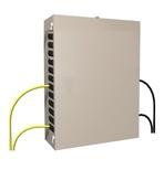 """Шкаф RackMount 23'' для организации точки перехода """"наружный/внутренний кабель"""" до 432 обычных волокон или 1296 Ribbon волокон (Fiber Entrance Cabinet) до 18 поддонов для сплайсов, 914х660х381, цвет: белый"""