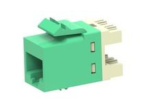 Гнездо SL10G SL110 jack, Cat.6A, раскладка пар: T568A T568B, solid: 22AWG-24AWG, stranded: 24AWG-26AWG, цвет: зелёный
