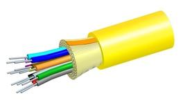 Универсальный оптический кабель, кол-во волокон: 2, Тип волокна: OS2 в плотном буфере, конструкция: ODC, Изоляция: ULSZH, EuroClass: Cca, диаметр: 5,2 мм, -20-+60 град., Цвет: жёлтый