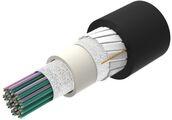 Универсальный оптический кабель, кол-во волокон: 144, Тип волокна: G.652.D and G.657.A1, конструкция: ленты волокон Rollable Ribbon в общей трубке, полоски из фибергласа, изоляция: UV stabilized NEC OFNR-LS (ETL) and c(ETL), EuroClass: B2ca, диаметр: 10,5 мм, -40 - +70 град., Цвет: чёрный
