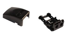 Розеточная коробка Surface Mount Module для гнёзд AMPTWIST и SL, 2-портовая, цвет: чёрный