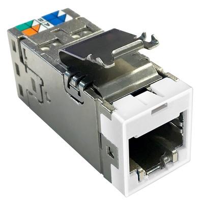Экранированное гнездо RJ45 AMPTWIST SLX, 6AS, цвет: белый