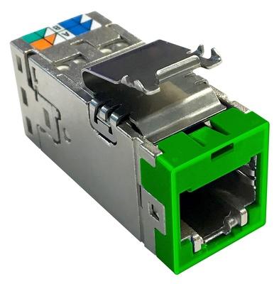 Экранированное гнездо RJ45 AMPTWIST SLX, 6AS, цвет: зелёный