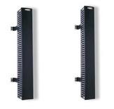 Вертикальный организатор 890 мм, конструкция: перфорированный короб, монтаж сбоку от стойки, двусторонний, глубина короба 130 мм