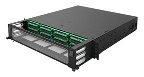 Панель под сварку UDS 12 модулей UDS по 12 Duplex LC APC в комплекте с Ribbon пигтейлами, Метод: А, Высота: 2RU, цвет: чёрный