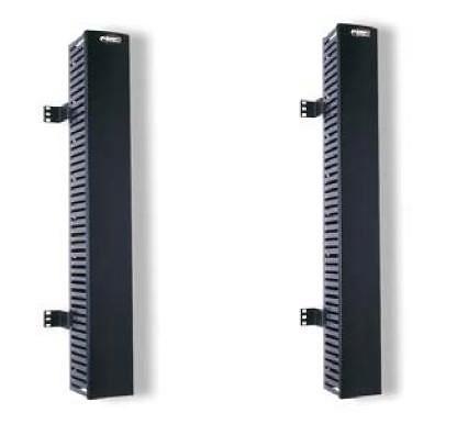 Вертикальный организатор 890 мм, конструкция: перфорированный короб, монтаж сбоку от стойки, односторонний, глубина короба 130 мм