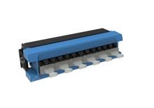 Адаптерная планка 360 G2 6хLC Duplex, iPatch Ready, SM TeraSPEED®, шторки: нет, цвет: синий