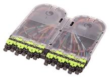 Кассета EHD ULL 12хLC Duplex с пигтейлами, OM5, LazrSPEED® wideband, гильзы: 24хFST-ACC005, цвет: lime