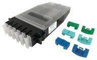 Кассета G2 6хSC Duplex с держателем сплайсов, без пигтейлов, цвет: бирюзовый/blue/green/lime