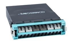 Модуль G2 ULL 12LC Duplex/3xMPO8(f) OM4, Method B Enhanced, шторки: да, цвет: бирюзовый