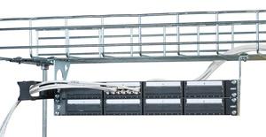 Комплект кронштейнов Xtra-U для крепления коммутационных панелей шириной 19'' высотой до 2RU к проволочным кабельным лоткам