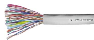 Кабель 50-парный UTP Cat.3 24 AWG, диаметр: 13, оболочка: PVC CMR Rated, цвет: серый, -20-+60 град., уп.: катушка 305 м