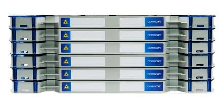 Шасси FACT™ Patch-Only 288 LC/UPC SM с 10 поддонами, организация кабеля: left/right routing, цвет: серый, высота: 6E=4.2RU