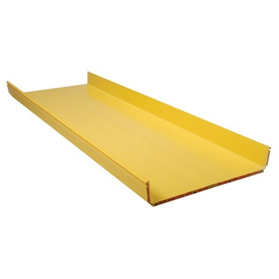 FiberGuide® Horizontal Straight Section, 4x18 in, 12ft Long, Yellow