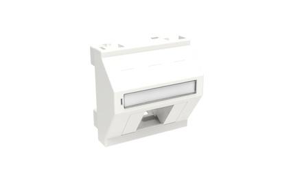 Лицевая панель наклонная 45x45, для 2 гнезд SL или AMPTwist, цвет: белый (RAL 9010)