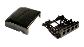 Розеточная коробка Surface Mount Module для гнёзд AMPTWIST и SL, 4-портовая, цвет: чёрный