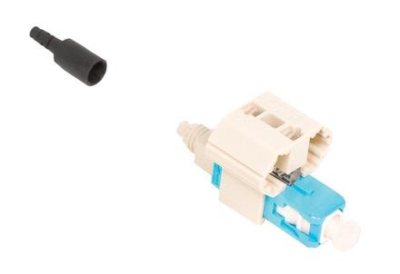 Соединитель LazrSPEED® Fiber Qwik II-SC Connector™ MM, для быстрой установки, цвет: бирюзовый, уп.: 25 шт.