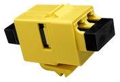Вставка SL-типа: соединитель LC Duplex SECURE - LC Duplex стандарт, Тип: SM/MM, цвет: жёлтый