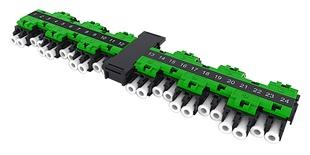 Адаптерная планка EHD 24хLC APC, SM, шторки: нет, цвет: зелёный