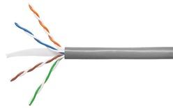 Кабель 4-парный U/UTP Cat.6, 24 AWG, оболочка: LSZH, EuroClass Dca, диаметр: 5,72, NVP 71%, -20-+60 грд, цвет: серый, уп.: коробка 305 м