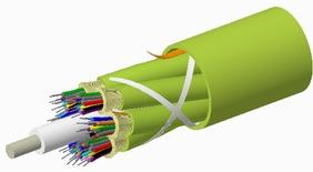 Внутренний оптический кабель, кол-во волокон: 36, Тип волокна: OM5 LazrSPEED® wideband буфер 900мк, конструкция: ODC 3x12 Tube с диэлектрическим силовым элементом, изоляция: LSZH Riser, EuroClass: Cca, диаметр: 14,69 мм, -20 - +70 град., цвет: lime-green