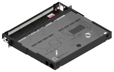 Коммутационная панель серии EPX выдвижная закрытая, до 4 модулей G2, до 48 LC Duplex, высота: 1RU