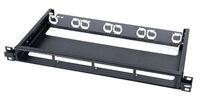 Коммутационная панель 1RU для 4 MPO-кассет и планок формата Quick-Fit, без крышки