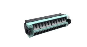Адаптерная планка 360 G2 12xLC Duplex OM4 шторки: да, цвет: бирюзовый (вместо 760115907)