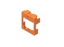 Маркерная насадка для гнезда AMPTWIST SLX, цвет: оранжевый, уп.: 50