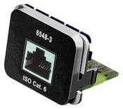 Адаптерная вставка AMP CO™ Plus 1xRJ45, Cat.6, приложение: телефонная, цвет: чёрный (RAL 9005)