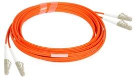 Коммутационный шнур LC/LC-дуплексный, OM2, оболочка: LSZH, цвет: оранжевый, длина м: 1