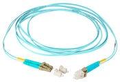 Коммутационный шнур LC-UPC/LC-UPC дуплексный, волокно: OM4 LazrSPEED® 550, оболочка: LSZH, диаметр: 1.6, цвет: бирюзовый, цвет разъёма: бежевый, длина м: 1
