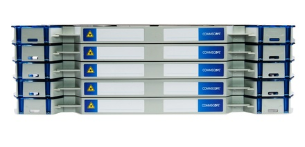 Шасси FACT™ Splice-Patch 120xSC/APC SM и B-grade пигтейлы, поддон для гильз SMOUV, организация кабеля: right-hand patch, цвет: серый, высота: 5E=3.5RU