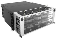 Выдвижная коммутационная панель Systimax High Density 4RU iPatch® ready для установки до 16 модулей G2, с фронтальным кабельным органайзером, до 192 LC Duplex или до 128 MPO
