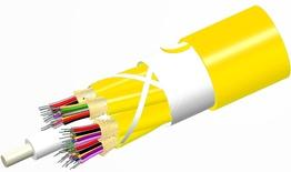 Внутренний оптический кабель, кол-во волокон: 96, Тип волокна: G.652.D and G.657.A1 TeraSPEED® буфер 900мк, конструкция: ODC 8x12 Tube с диэлектрическим силовым элементом, изоляция: Riser, диаметр: 23,58 мм, -20 - +70 град., цвет: жёлтый