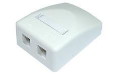 Розеточная коробка Surface Mount Module для гнёзд AMPTWIST и SL, 2-портовая, Цвет: серый