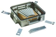 Зональная коробка 610mm x 610mm h=178 mm для установки под фальшполом с направляющими для установки панелей 2х3RU, материал: алюминий, цвет: серебряный
