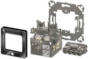 Розетка AMP CO™ Ultra 50x50 мм, ввод кабеля: сверху, слева или справа, цвет: чёрный (RAL 9005)