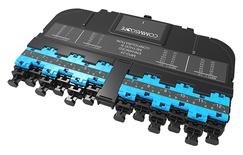 Модуль EHD ULL 12LC Duplex/1xMPO24(f), OM4 LazrSPEED® 550, выравнивающие штырьки: нет, пылезащитные заглушки: да, цвет: бирюзовый