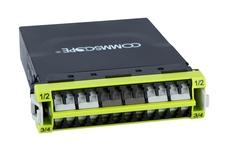 Модуль G2 ULL 12LC Duplex/3xMPO8(f) OM5, Method B Enhanced, шторки: да, цвет: lime