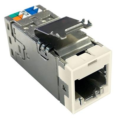 Экранированное гнездо RJ45 AMPTWIST SLX, 6AS, цвет: бежевый