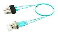 Коммутационный шнур LC-UPC/SC-UPC дуплексный, волокно: OM4 LazrSPEED® 550, оболочка: LSZH, диаметр: 1.6, цвет: бирюзовый, цвет разъёма: бежевый, длина м: 1