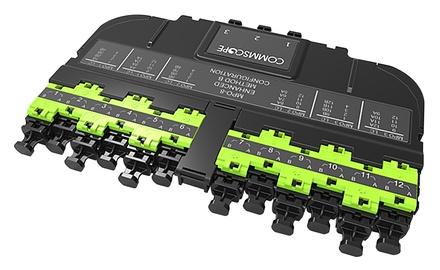 Модуль EHD ULL 12LC Duplex/3xMPO8(f), OM5, LazrSPEED® wideband, выравнивающие штырьки: нет, пылезащитные заглушки: да, цвет: lime