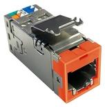 Экранированное гнездо RJ45 AMPTWIST SLX, 6AS, цвет: оранжевый