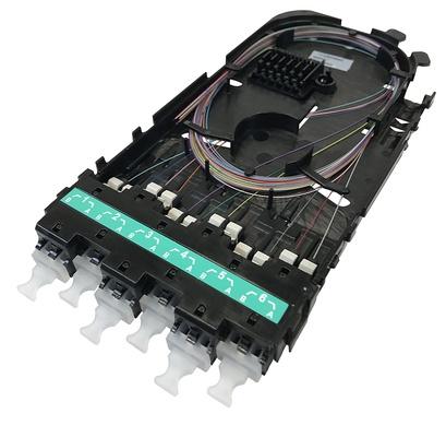 Кассета CHD ULL OM4 6xLC Duplex в комплекте с пигтейлами и поддоном, Method B Enchanced, цвет: бирюзовый