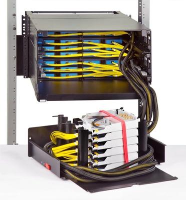 Панель под сварку UDS 36 модулей UDS по 12 Duplex LC APC, Метод: B Enchanced, Высота: 6RU, цвет: чёрный