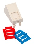 Лицевая панель наклонная 22,5x45, для 1 гнезда SL или AMPTwist, со шторкой, цвет: белый